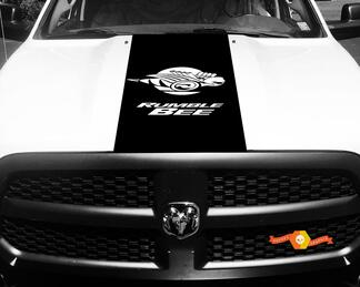 1500 2500 3500 Truck Vinyl Racing Stripe Dodge Rumble Bee Hood Decals Stickers #82
