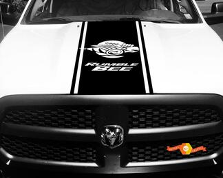 1500 2500 3500 Truck Vinyl Racing Stripe Dodge Rumble Bee Hood Decals Stickers #83