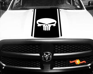 1500 2500 3500 Ram Truck Punisher Vinyl Rennstreifenhaube Aufkleber Aufkleber # 88