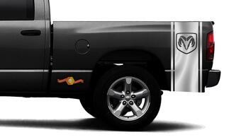 DODGE RAM 1500 VINYL DECAL bed side stripe racing CHROME sticker DODGE Hemi #94