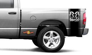 DODGE RAM 1500 2500 VINYL DECAL Stripe Plain Head Turbo Decal Sticker #106
