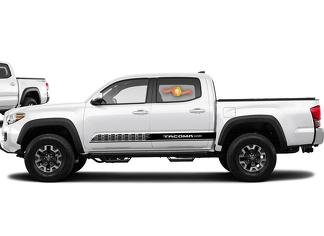 2X Toyota Tacoma 2016-2019 side skirt Vinyl Decals graphics rally sticker kit