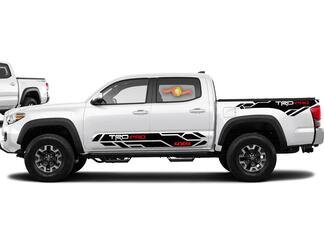 4X Toyota Tacoma Trd Pro 4x4 2016-2020 side Vinyl Decals sticker