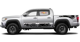 4 x Toyota Tacoma 2016-2019 (TRD OFF ROAD) Sport Punisher Seitenschweller Vinyl Decals Grafikaufkleber