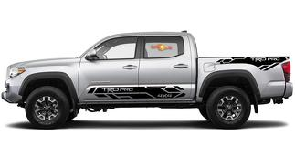 4 x Toyota Tacoma 2016-2019 (TRD OFF ROAD) PRO Sport side kit Vinyl Decals graphics sticker
