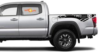 Toyota Tacoma 2016-2020 (TRD OFF ROAD) 4x4 Sport Punisher side skirt Vinyl Decals graphics sticker