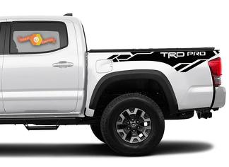 Toyota Tacoma 2016-2020 (TRD OFF ROAD) TRD PRO Punisher side kit Vinyl Decals graphics sticker