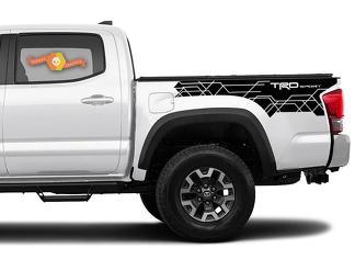 Toyota Tacoma 2016-2020 TRD Sport Seitenkit Vinyl Decals Grafikaufkleber