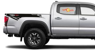 2 X Toyota Tacoma Trd PRO Racing Development 2016-2020 side Vinyl Decals sticker
