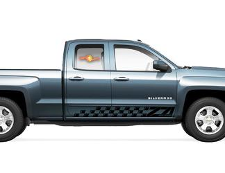 2X Chevrolet Silverado Z71 side Vinyl Decals graphics rally sticker kit