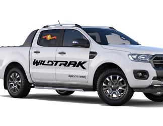 2X 2016-2018 FORD RANGER Wildtrak Vinyl Doors Sticker Decals Graphics