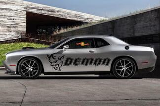 2x 2008-2019 Dodge Challenger DEMON Side Vinyl Decals Graphics Sticker