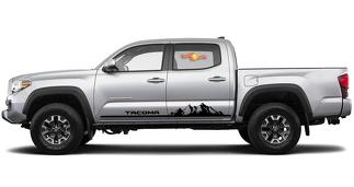 2X Toyota Tacoma 2016-2019 side skirt Vinyl Decals graphics rally sticker kit -1