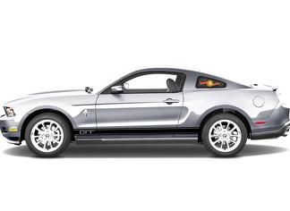 2X Sticker Decal Vinyl Side Door Stripes for Ford Mustang