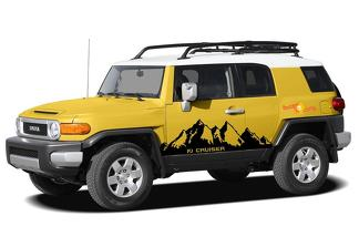 2X Toyota FJ cruiser Mountains side Vinyl Decals graphics rally sticker kit