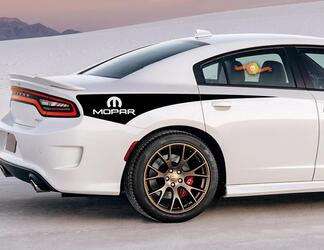 2X Dodge Charger Mopar Rear Quarter Side Stripe Decal 2011-2020