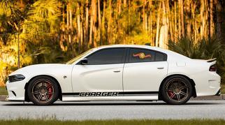 2X Dodge Charger Rocker Panel Aufkleber Stripe Vinyl Graphics 2011-2019