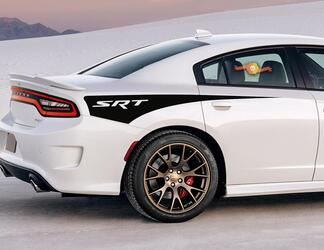 2X Dodge Charger SRT Seitenstreifen-Aufkleber für das hintere Viertel 2011-2020