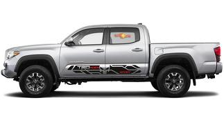 2X Toyota Tacoma Trd 4x4 Sport Scull Punisher side skirt Vinyl Decals 2016-2020