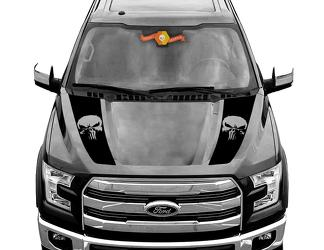 FORD F-150 Raptor Punisher Hood Graphics 2015 2019 Ford Racing Stripe Decals