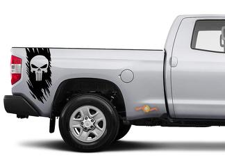 Dodge Ford Toyota Nissan Chevy Truck Off Road Punisher Skull Edition Decal Sticker Vinyl Truck Bed Side Graphic