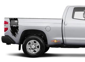 Tundra Tacoma TRD Truck Off Road Flag USA Edition Decal Sticker Vinyl Truck Bed Side Graphic