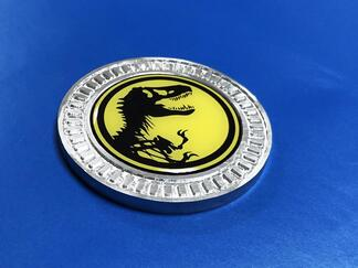 3D Badge Jurassic Park Metal Aluminum Bed Side Emblem For Jeep Wrangler JL JK YJ TJ