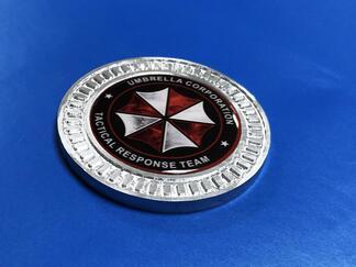 3D Abzeichen Umbrella Corp Team Metall Aluminium Bett Seiten Emblem für Jeep Wrangler JL JK YJ TJ