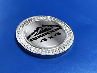 3D Abzeichen Berge Rubicon 4x4 Metall Aluminium Bett Seiten Emblem für Jeep Wrangler JL JK YJ TJ