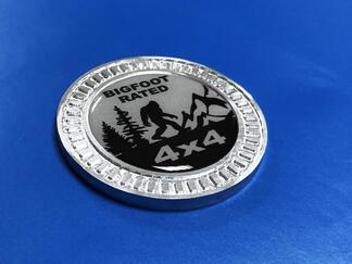 3D-Abzeichen Bigfoot bewertet 4x4 Metall Aluminium Bett Seitenemblem für Jeep Wrangler JL JK YJ TJ