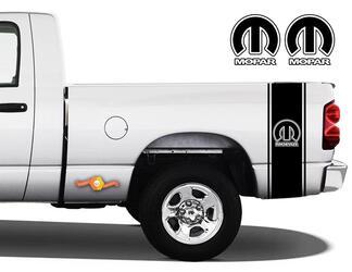 1500 2500 Ram Truck Vinyl Aufkleber Nachttisch Streifen Mopar Logo Aufkleber