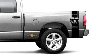 Dodge Ram HEMI 1500 Decal Sticker Vinyl Graphic Truck Bed Side Stripes Decals - 2