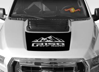FORD F-150 Raptor SVT Hood Graphics 2015-2019 - Ford Racing Stripe Decals