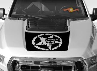 FORD F-150 Raptor SVT Hood Graphics 2015-2019 - Ford Racing Stripe Decals - 2