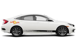 Racing Rocker Panel Streifen Vinyl Aufkleber Aufkleber für Honda Civic EX