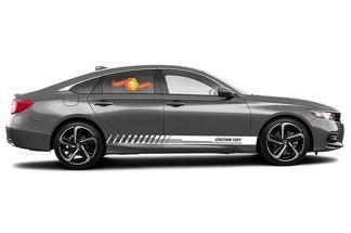 Racing Rocker Panel Streifen Vinyl Aufkleber Aufkleber für Honda Accord Sport