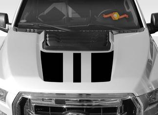 FORD F-150 Raptor SVT Hood Graphics 2015-2019 - Ford Racing Stripe Decals - 4