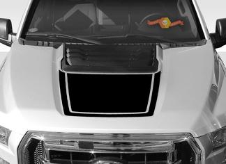FORD F-150 Raptor SVT Hood Graphics 2015-2019 - Ford Racing Stripe Decals - 5