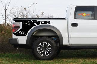 Ford Raptor mountains Bedside Graphics - 2010-2014 Raptor Decals - Raptor Stickers