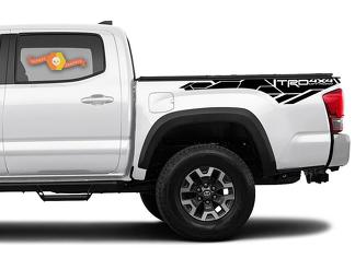 2 Toyota Tacoma 2016-2019 3rd Gen Bedside TRD 4x4 Offroad Decals