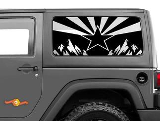Jeep Wrangler Rubicon Hardtop Flag Arizona Mountains Windshield Decal JKU JLU 2007-2019 or Tacoma 4Runner Tundra Subaru Charger Challenger - 21