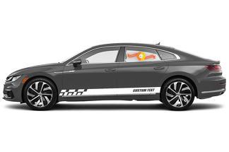 Racing Rocker Panel Streifen Vinyl Aufkleber Aufkleber für Volkswagen Arteon R-Line