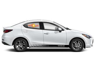 Racing Rocker Panel Streifen Vinyl Aufkleber Aufkleber für Toyota Yaris