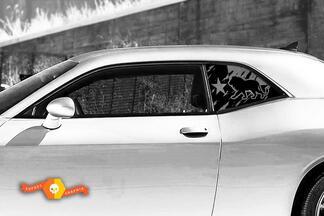 Dodge Challenger Ladegerät Hardtop Texas Flagge Lion Forest Mountains Windschutzscheibe Aufkleber JKU JLU 2007-2019 oder Tacoma 4Runner Tundra Subaru Wrangler Rubicon - 77