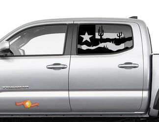 Toyota Tacoma 4Runner Tundra Hardtop Flagge Texas Desert Сactus Windschutzscheibe Aufkleber JKU JLU 2007-2019 oder Dodge Challenger Ladegerät Subaru Ascent Forester Wrangler Rubicon - 126