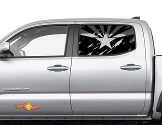 Toyota Tacoma 4Runner Tundra Hardtop Flag Arizona Destroyed Windshield Decal JKU JLU 2007-2019 or Dodge Challenger Charger Subaru Ascent Forester Wrangler Rubicon - 149