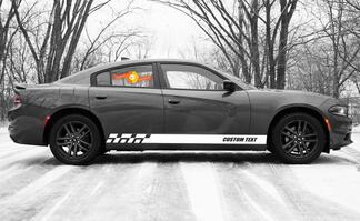 Racing rocker panel stripes vinyl decals stickers for Dodge Charger SXT
