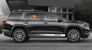 Racing rocker panel stripes vinyl decals stickers for GMC Acadia