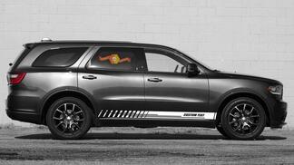 Racing Rocker Panel Streifen Vinyl Aufkleber Aufkleber für Dodge Durango