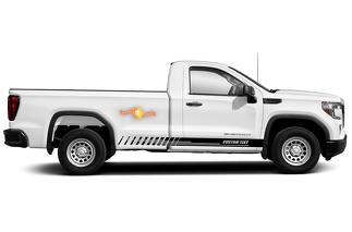 Racing rocker panel stripes vinyl decals stickers for GMC Sierra 1500
